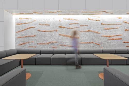 Wallpaper by Jill Malek Wallpaper at Google NY, New York - Terrains Dimensional Wallcovering