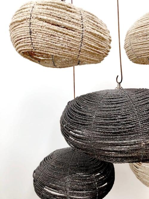 Beaded Pebble Ceramic Bead Pendant | Pendants by Mud Studio, South Africa