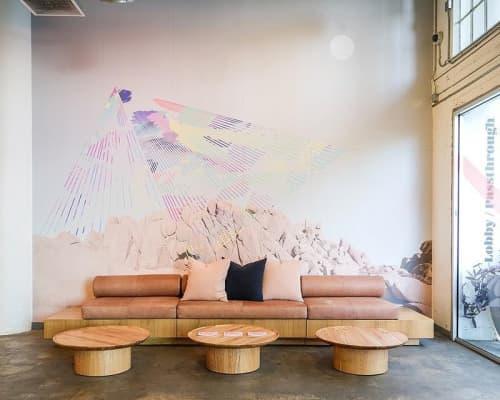 Vortex Overlay   Murals by Caroline Geys   ROW DTLA in Los Angeles
