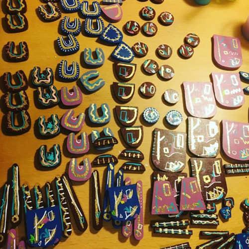 Apparel & Accessories by Jfrancisdesigns seen at Philadelphia, Philadelphia - hand crafted earrings