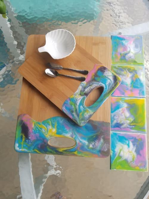 Tableware by Molly Silverman Art seen at Delray Beach, FL, Delray Beach - In Bloom Entertaining Set, Original Resin