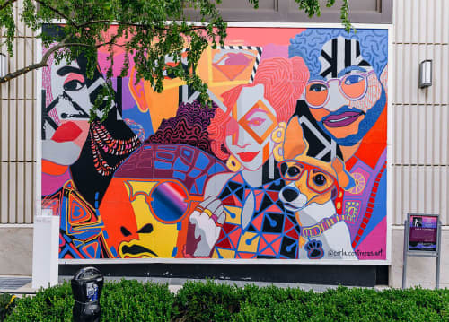 Murals by CARLA.CONTRERAS.ART seen at The Shops of Buckhead, Atlanta - Spring Into the Shops mural