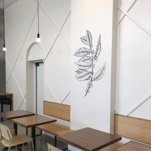 Interior Mural | Murals by Top Notch Signs | Rose Park Roasters in Long Beach