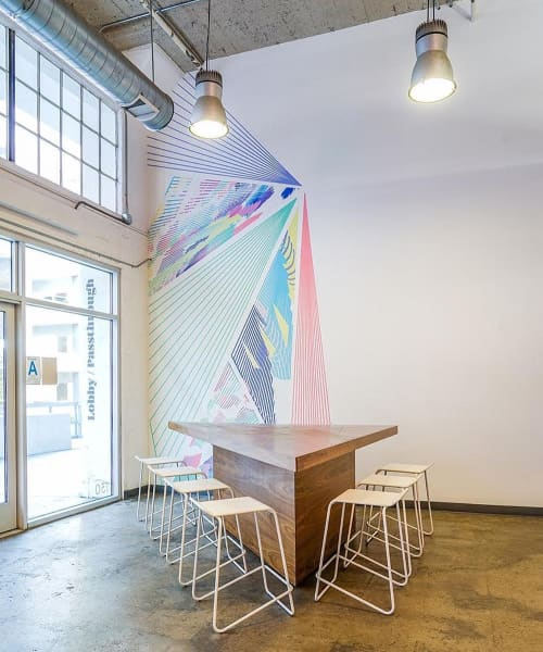 Vortex Overlay | Murals by Caroline Geys | ROW DTLA in Los Angeles