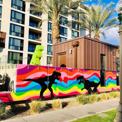 T Rex mural | Murals by Shaggy | FOUND:RE Phoenix Hotel in Phoenix