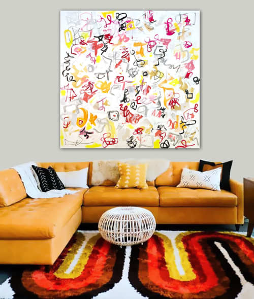 'RiGAMORALE' original abstract painting by Linnea Heide | Paintings by Linnea Heide contemporary fine art