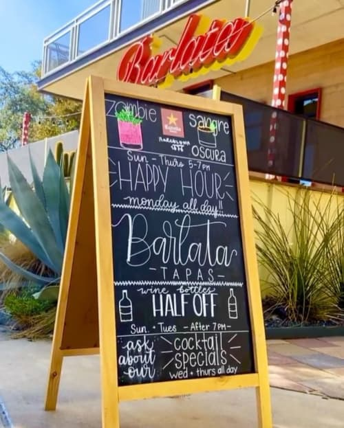 Specials Chalkboard | Signage by Lettered by Lauren | Barlata in Austin