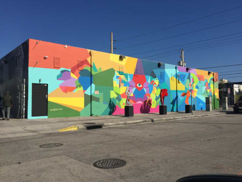 Murals by Moleiro Artwork at Curator's Voice Art Projects, Miami - Tótem