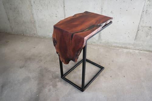 Sinker Redwood Waterfall C-Table   Tables by Hazel Oak Farms
