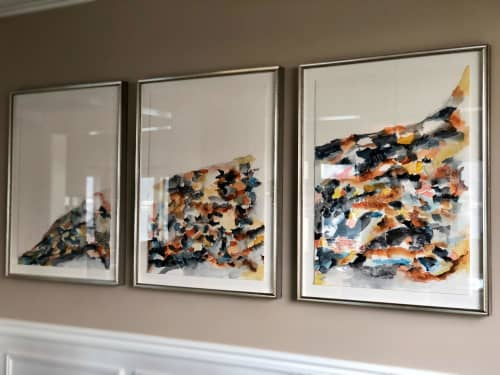 Abstract Landscape Watercolor Tryptich | Paintings by Melanie Biehle
