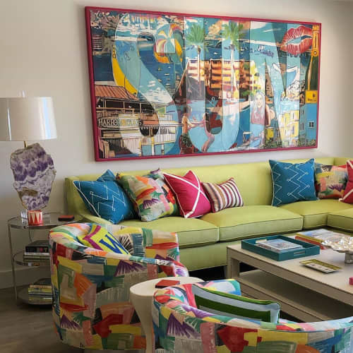 """Paintings by Mark Boomershine seen at Private Residence, Destin - """"Sun"""""""