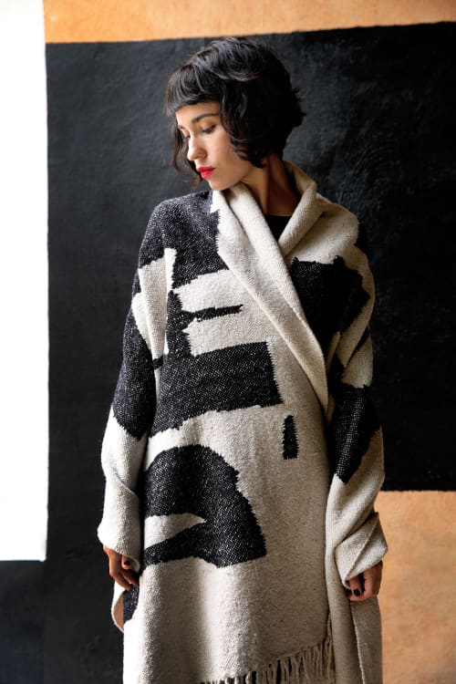 Rugs by BLACK LINE CRAZY   Designed by artist Mary van de Wiel - GIDDY   2M LONG THROW