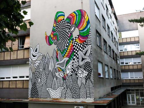 Murals by Melinda Šefčić - Introspection