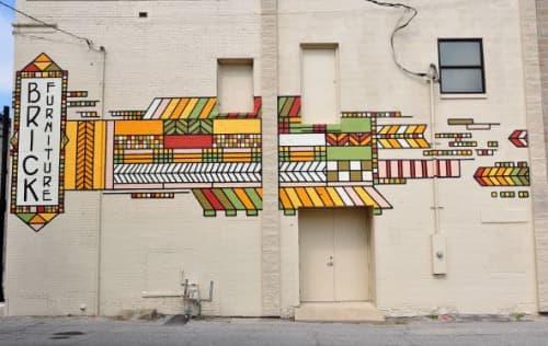 Brick Furniture Mural   Street Murals by Ali Hval