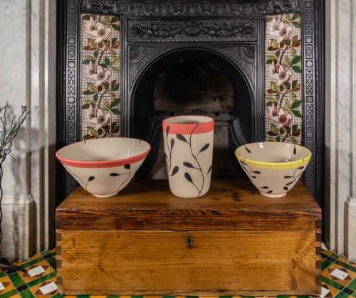 Large stoneware vessel in 'Foliage' design   Vases & Vessels by Kyra Mihailovic Ceramics
