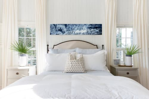 TIDAL WAVE | Paintings by Christina Twomey Art + Design | Private Residence - Minnetonka, MN in Minnetonka