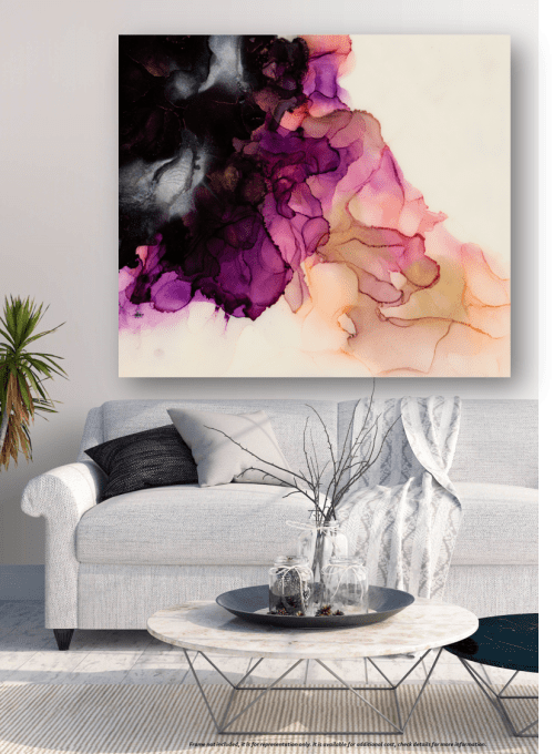 'WISTERIA III' | Paintings by Christina Twomey Art + Design