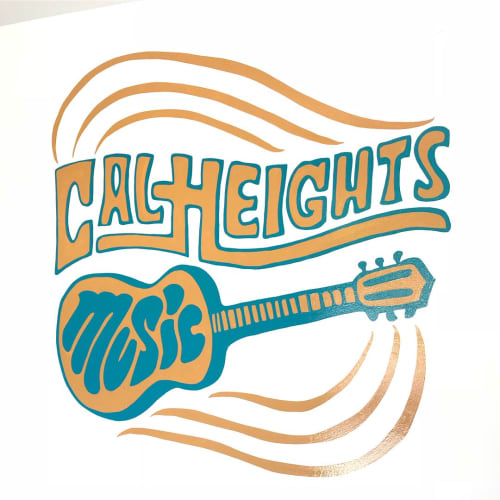 Sign Painting | Signage by Top Notch Signs | Cal Heights Music in Long Beach