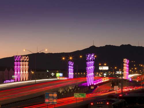 Public Sculptures by Vicki Scuri SiteWorks seen at Airway at Gateway, El Paso, TX, El Paso - Airway Gateway