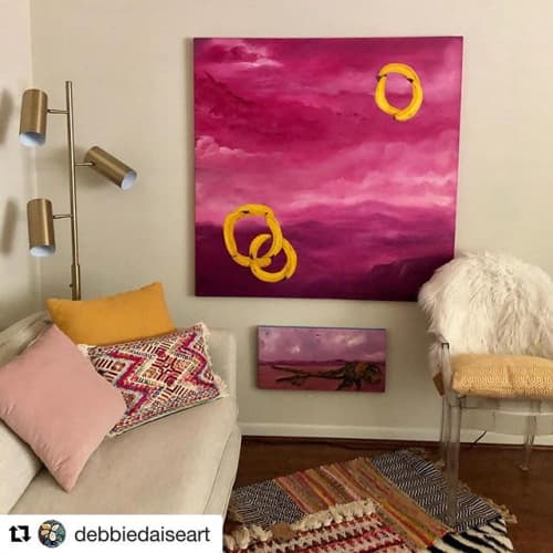 High Plain Drifters   Paintings by Debbie Daise Art    @Debbiedaiseart   Ambella Home Collect Corporate in Dallas