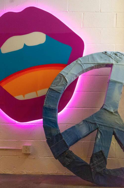 "Paintings by ANTLRE - Hannah Sitzer seen at Mateo's, San Francisco - ""Lips"""
