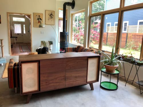 Tables by Sallie Plumley Studio - Walnut Vintage Record Console