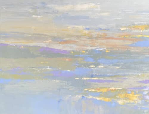 Wall Treatments by Donna Bruni seen at Hennepin Healthcare Clinic & Specialty Center, Minneapolis - Toward The Horizon, oil on canvas, arts in healthcare