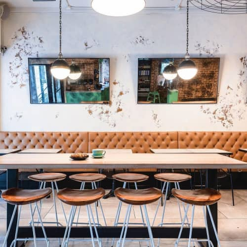 Perch Counter Stools   Chairs by From the Source   Blank Slate Coffee + Kitchen NoMad in New York