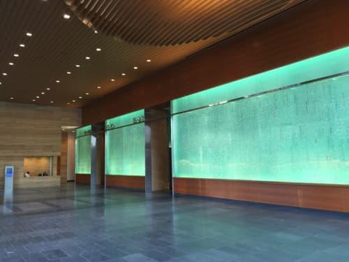 Wall Treatments by Kaiser / von Roenn Studio at Colorado Tower, Austin - Glass Wall