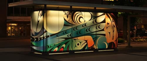 Street Murals by Kelly Cannell at Queen Elizabeth Theatre Plaza, Vancouver - Sea to Sky
