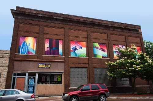 Webster City Town History Mural | Street Murals by Ali Hval