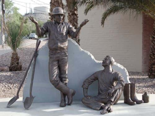 Public Sculptures by Sutton Betti seen at Boulder City, Boulder City - Puddlers Break