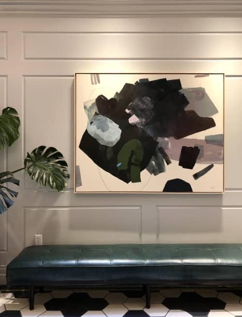 """Paintings by maja dlugolecki at Woodlark, Portland - 'wander with me', 48"""" x 60"""""""