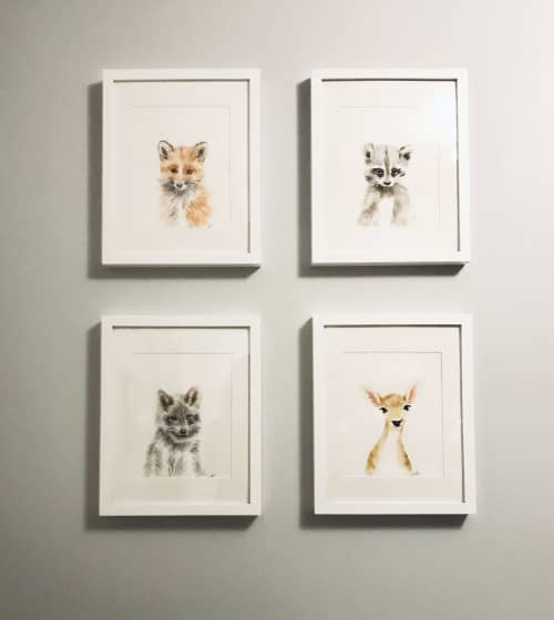 Baby animals for nursery   Paintings by Clementine Studio