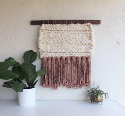 Rose | Wall Hangings by Keyaiira | leather + fiber | Santa Rosa in Santa Rosa