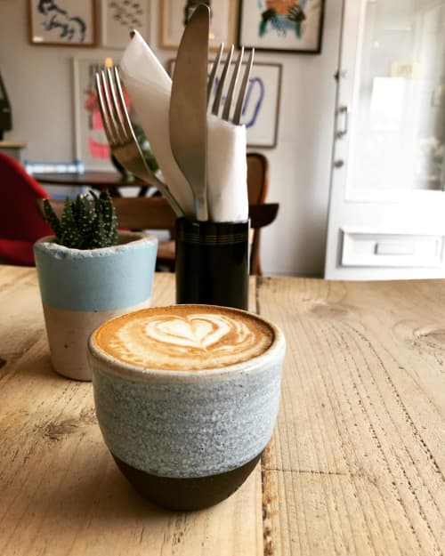 Ceramic Cup | Cups by Potters Thumb | The Longhouse Cafe in Brighton