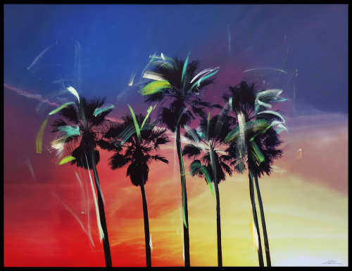 Paintings by Pete Kasprzak seen at Private Residence, Los Angeles - California Multi Palms