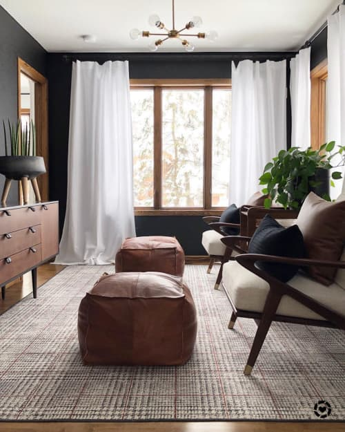 Ottomans   Benches & Ottomans by Woven Nook   Kate Chipinski's Home in Minneapolis