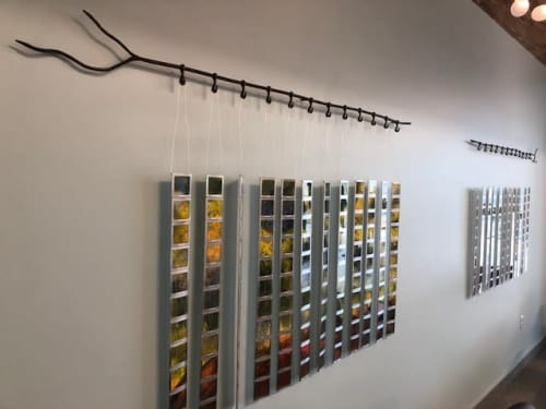 Pixelated Landscapes | Sculptures by Jennyfer Stratman | Idaho College of Osteopathic Medicine in Meridian