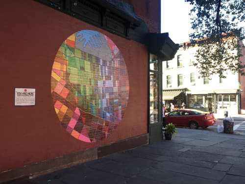 You Are Here   Murals by Ellie Balk   The Great Georgiana in Brooklyn
