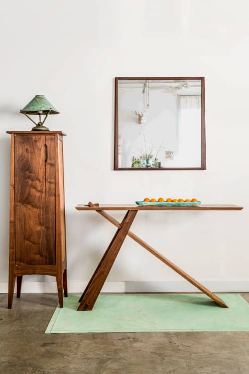 Tables by Eben Blaney Furniture seen at Private Residence, Portland - Wedge Console table
