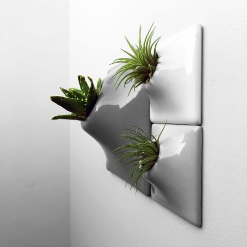 Node Ceramic Wall Planter Configuration - Living Wall Art   Vases & Vessels by Pandemic Design Studio