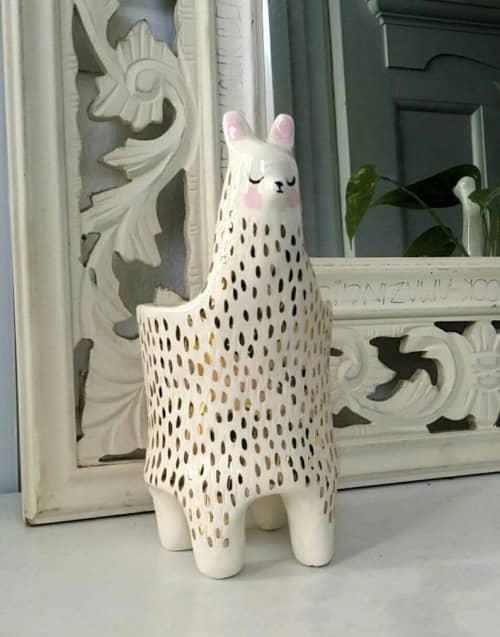 Ceramic Llama planter | Vases & Vessels by Gail Ceramics | Private Residence in Brisbane
