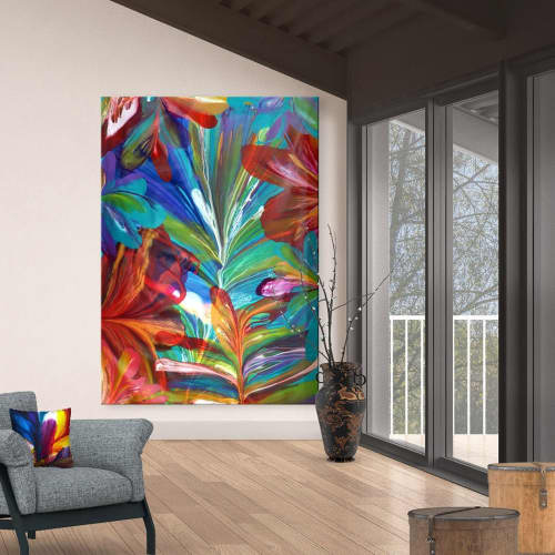 Murals by Terry Kruse seen at Private Residence, Calgary, Calgary - Secret Garden