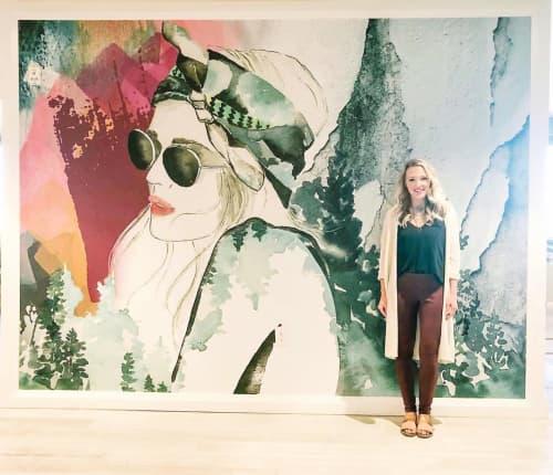 Mural on canvas   Murals by Kelsey Mcnatt   Blake Street Apartments in Denver