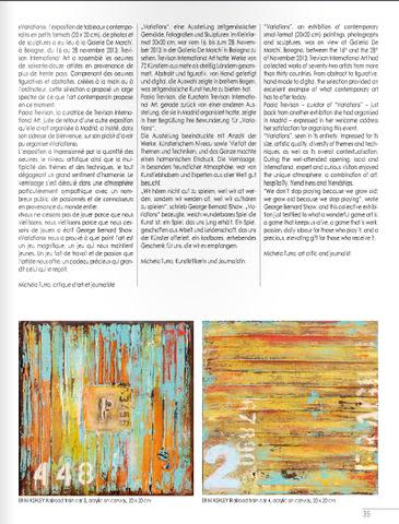 Published art in Rivier Art magazine/Italy | Paintings by ERIN ASHLEY