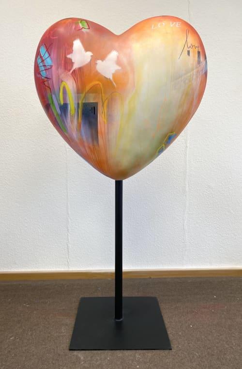 Heart sculpture  for a new senior center | Interior Design by Bea Garding Schubert | Petrihaus Hofgeismar in Hofgeismar