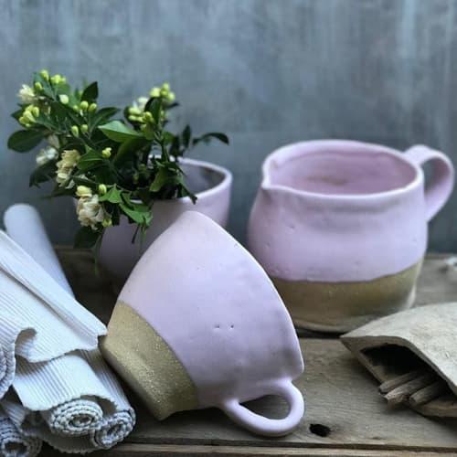 Pink Glaze Dinnerware | Ceramic Plates by Melissa Lellouche