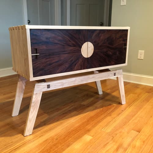 Rosewood Sun Cabinet | Furniture by Mako Woods | Private Residence in Point Pleasant