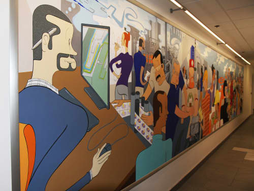 Murals by Gregory Gove at Krones AG, Franklin, WI, Franklin - Krones AG Headquarters Mural